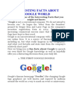 Interesting Facts About Google World