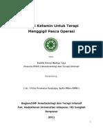 Efikasi Ketamin Untuk Terapi Menggigil Pascaoperasi (Revisi)