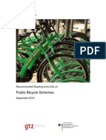 Recommended Reading and Links on Public Bicycle Schemes