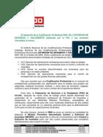Cualificación Profesional denominada EXTINCION DE INCENDIOS Y SALVAMENTO