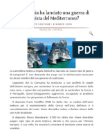 La Germania Ha Lanciato Una Guerra Di Conquista Territoriale Del Mediterraneo