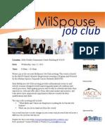 Military Spouse Club 22 Jun 11