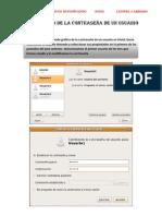 2- Modificación de la contraseña de un usuario