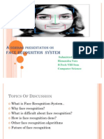 face recognisation ppt