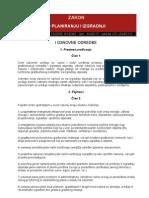 Novi Zakon o Planiranju i Izgradnji April 2011