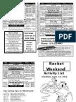 Rocket Weekend 2011 Activity List Yogi Bear's Jellystone Park, Van Buren MO