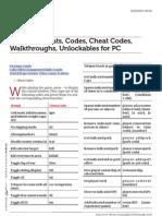 Www.cheatcc.com Fallout 3 Cheats Codes Cheat Codes Walkthroughs Unlockables for Pc