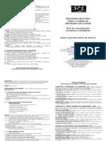 Folder Do Processo Seletivo Para Aluno REGULAR Do Mestrado - 2012-1