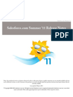 Sales Force Summer11 Release Notes