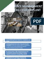 Heidelberg Cement Plant Maintenance Management