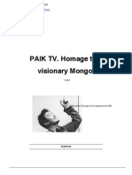 PAIK TV. Homage to a Visionary Mongol