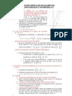 Solución del Simulacro de Funciones Lineales y Geometría-3ºA