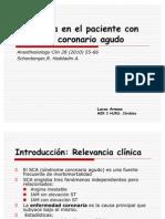 Anestesia en el paciente con síndrome coronario agudo