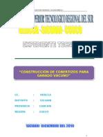 EXPEDIENTE CONSTRUCCIÓN DE COBERTISOS SANTA BARBARA