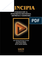 PRINCIPIA. INTRODUCCION AL PENSAMIENTO MATEMATICO, ARITMETICA Y GEOMETRIA