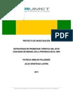PROYECTO DE INVESTIGACIÓNturismo