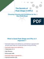 HPLC Peak Shape