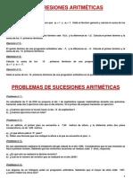 Ejercicios de Progresiones Aritmeticas y Geometric As