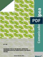 IPEA - comunicado Nº 92 - equidade fiscal