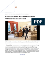 Executive Order - Establishment of the White House Rural Council