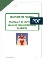 Protocolo de Contencion de Pacientes Adaptado Para Aplicacion en El Distrito no
