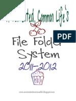File Folder System 2011-12