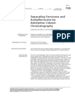 Tech 708 Separating Ferrocene and Acetylferrocene by Adsorption Column Chromatography