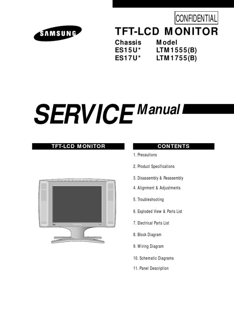 samsung lcd service manual internal es15u rh scribd com Vizio VX42L Stand Vizio TV