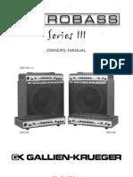 Gallien Krueger Manual