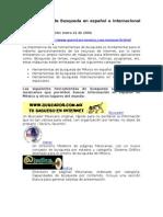 Herramientas de Busqueda en español e internacional