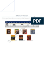 Adventure Treasure Magazine Index with covers