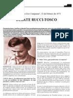 Debate Tosco - Rucci