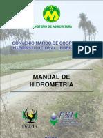 Manual de Hidrometría - Aforos