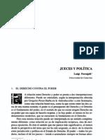 Jueces y política. Luigi Ferrajoli