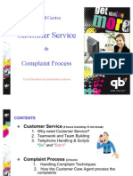 Customer Service and Handle Complaint