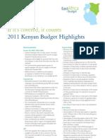 Budget Highlights Kenya
