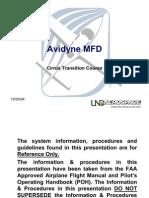 Avionics Avidyne MFD