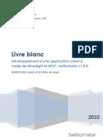 Livre Blanc  - Développement d'une application client à l'aide de Silverlight et WCF