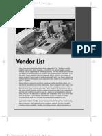 Vendor List [PDF Library]
