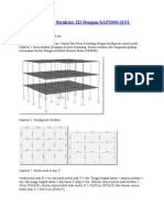 Analisis Dinamik Struktur 2D Dengan SAP2000