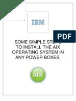 AIX Installation Steps