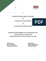 Training Development Project Report (Final)