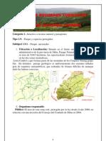 Ficha de Recursos Turisticos p.n.cindrel