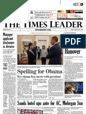 Times Leader 06-10-2011   Judiciaries   Wilkes Barre