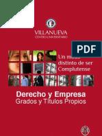 DERyEMP Folleto General Derecho y Empresa