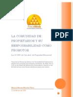 La Comunidad de Propietarios y Su Responsabilidad Como Promotor