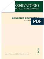 La Sicurezza Energetic A Italiana Ed Europea Vol.i-2011