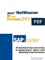 Berg NW2010 30 Tips for SAP BI Performance v4