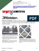 Forgotten Cemeteries NY
