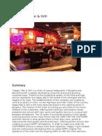 Happy Bar & Grill Marketing Plan